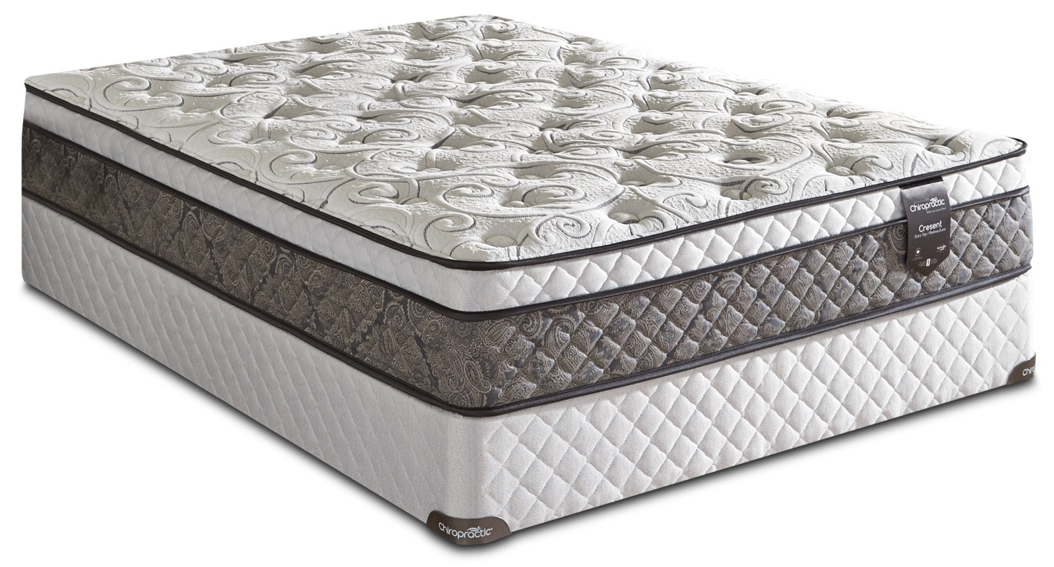 Springwall Chiropractic® Crescent Euro-Top Queen Mattress Set