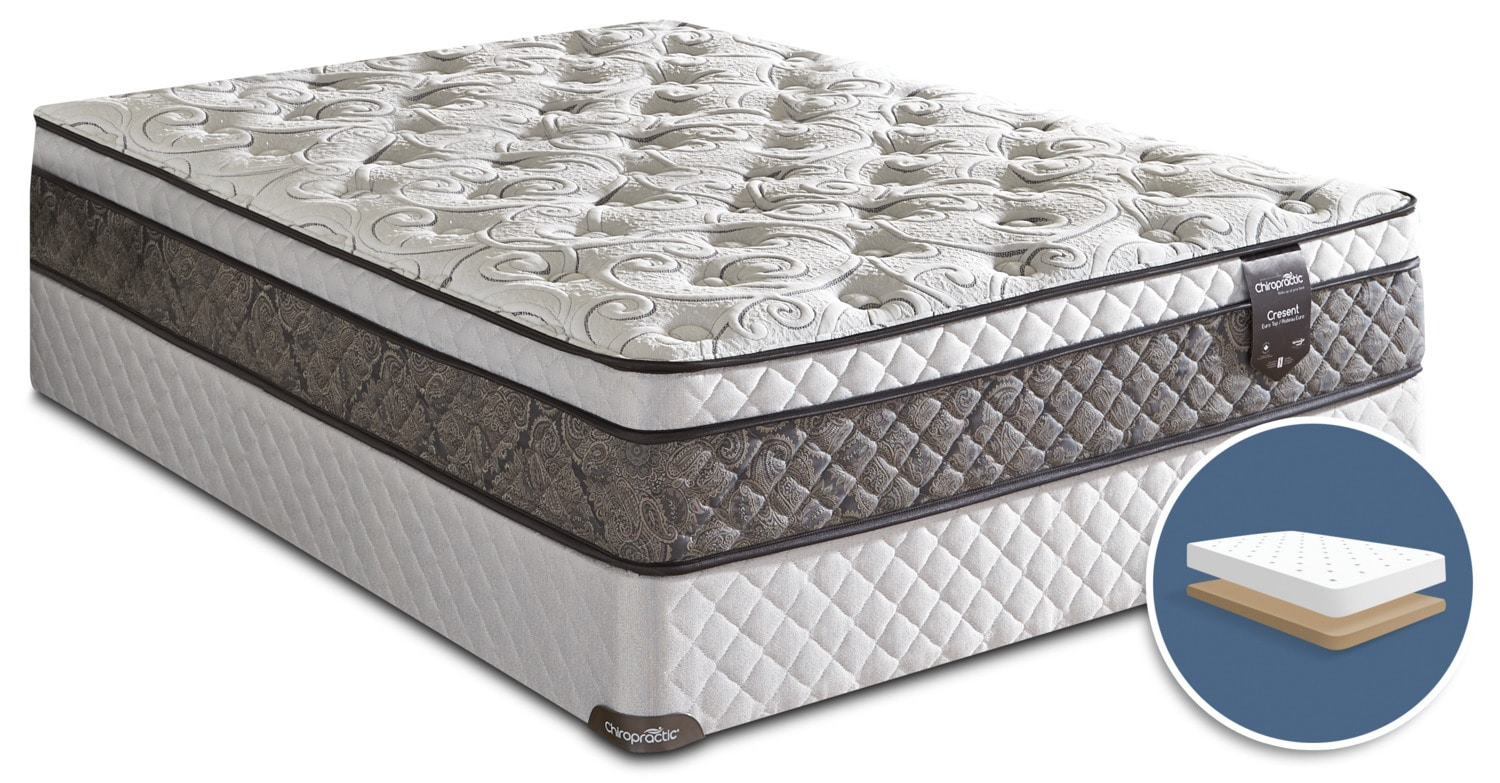 Springwall Chiropractic® Crescent Euro-Top Low-Profile King Mattress Set
