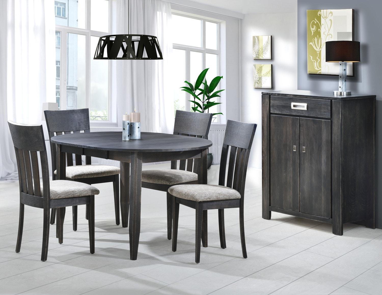 Joliette salle manger 5 mcx ardoise meubles l on for Meuble chez leon quebec