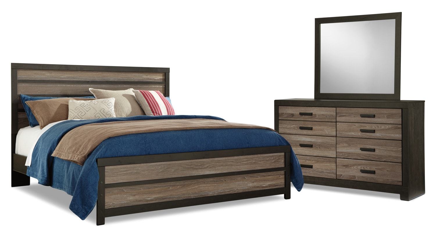 Bedroom Furniture - Harlinton 5-Piece King Bedroom Package