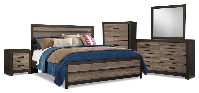 Chambre à coucher - Ensemble de chambre à coucher Harlinton 7 pièces avec très grand lit