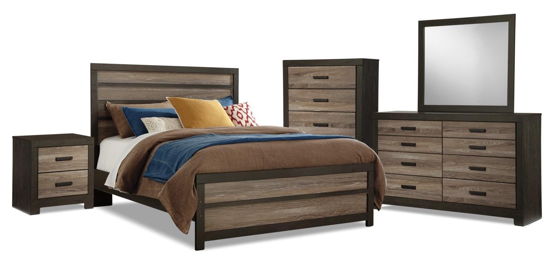 Bedroom Furniture - Harlinton 7-Piece Queen Bedroom Package