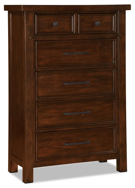 Bedroom Furniture - Sonoma Chest - Dark Brown