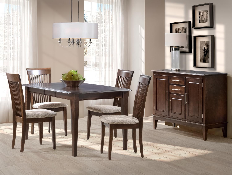 Granby 5-Piece Dining Room Set - Bark Brown