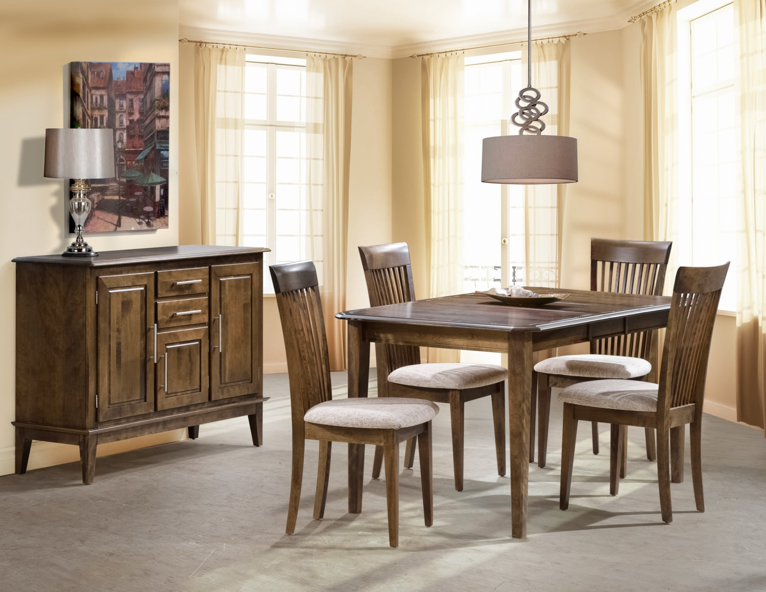 Granby 5-Piece Dining Room Set - Fossil