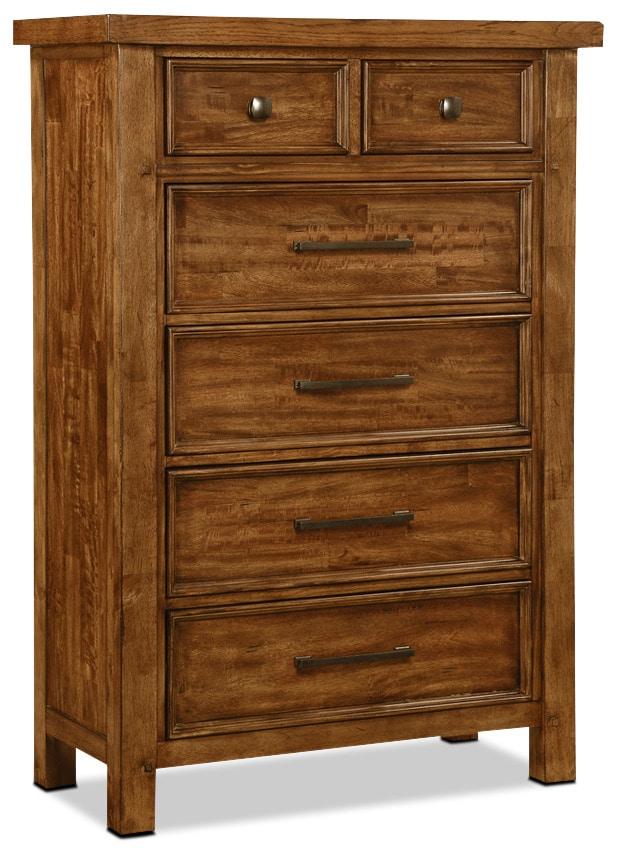 Bedroom Furniture - Sonoma Chest – Medium Brown