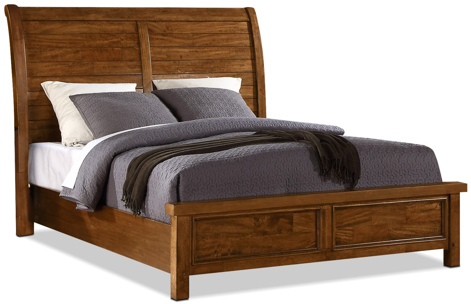 Bedroom Furniture - Sonoma King Sleigh Bed – Medium Brown