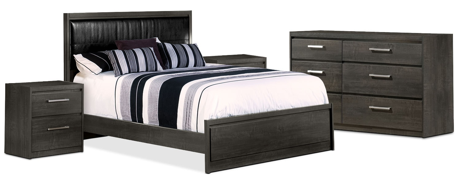 Tyler 6-Piece Queen Bedroom Package with 2 Nightstands