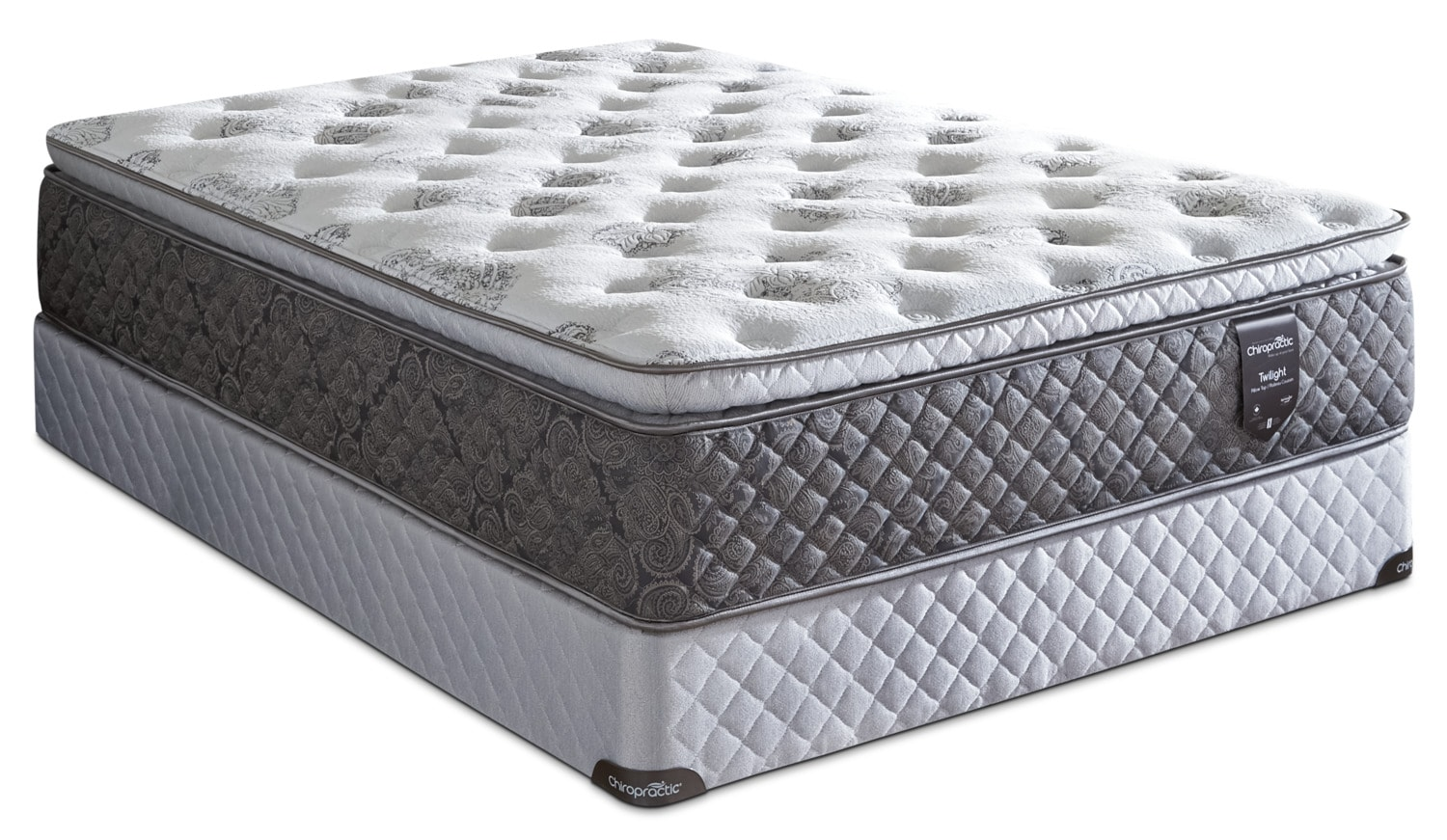 Springwall Chiropractic® Twilight Pillow-Top Luxury Firm Twin Mattress Set
