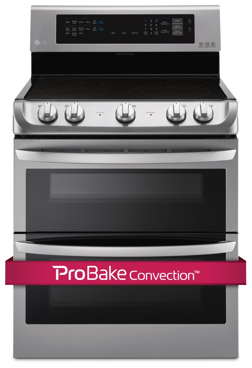LG Appliances Stainless Steel Freestanding Electric Double Oven Range (7.3 Cu. Ft.) - LDE4413ST