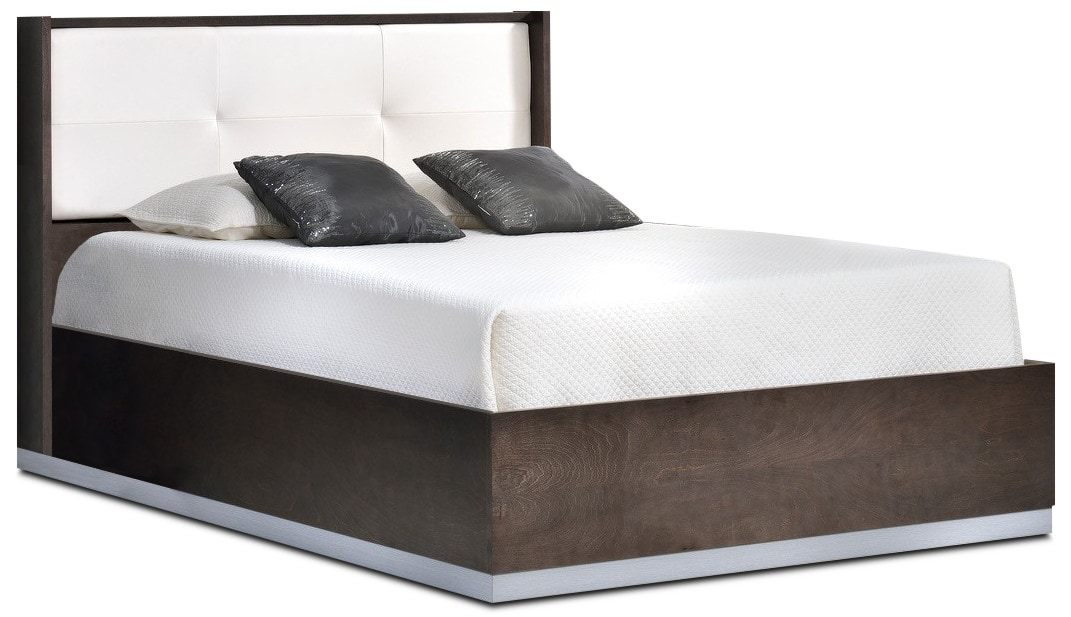 Levi Queen Bed - Pewter