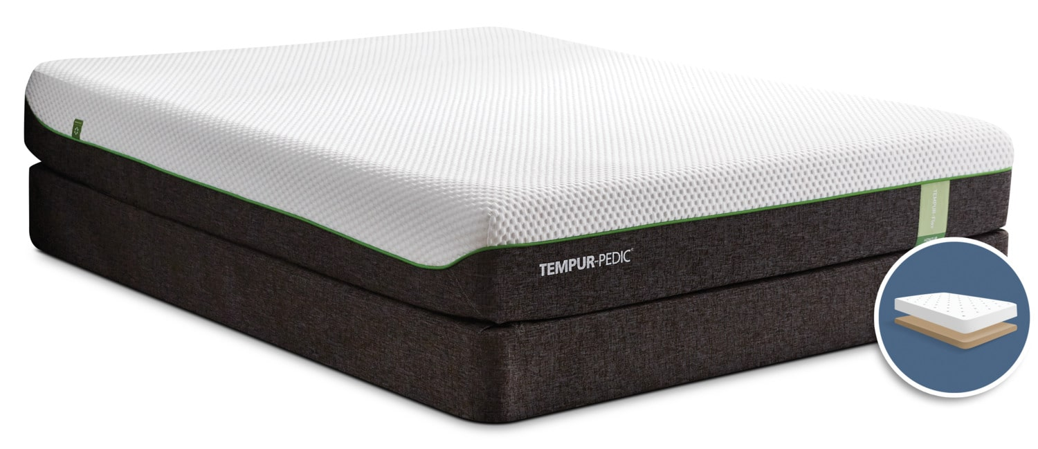 TEMPUR-Flex® Honour Tight-Top Low-Profile Full Mattress Set