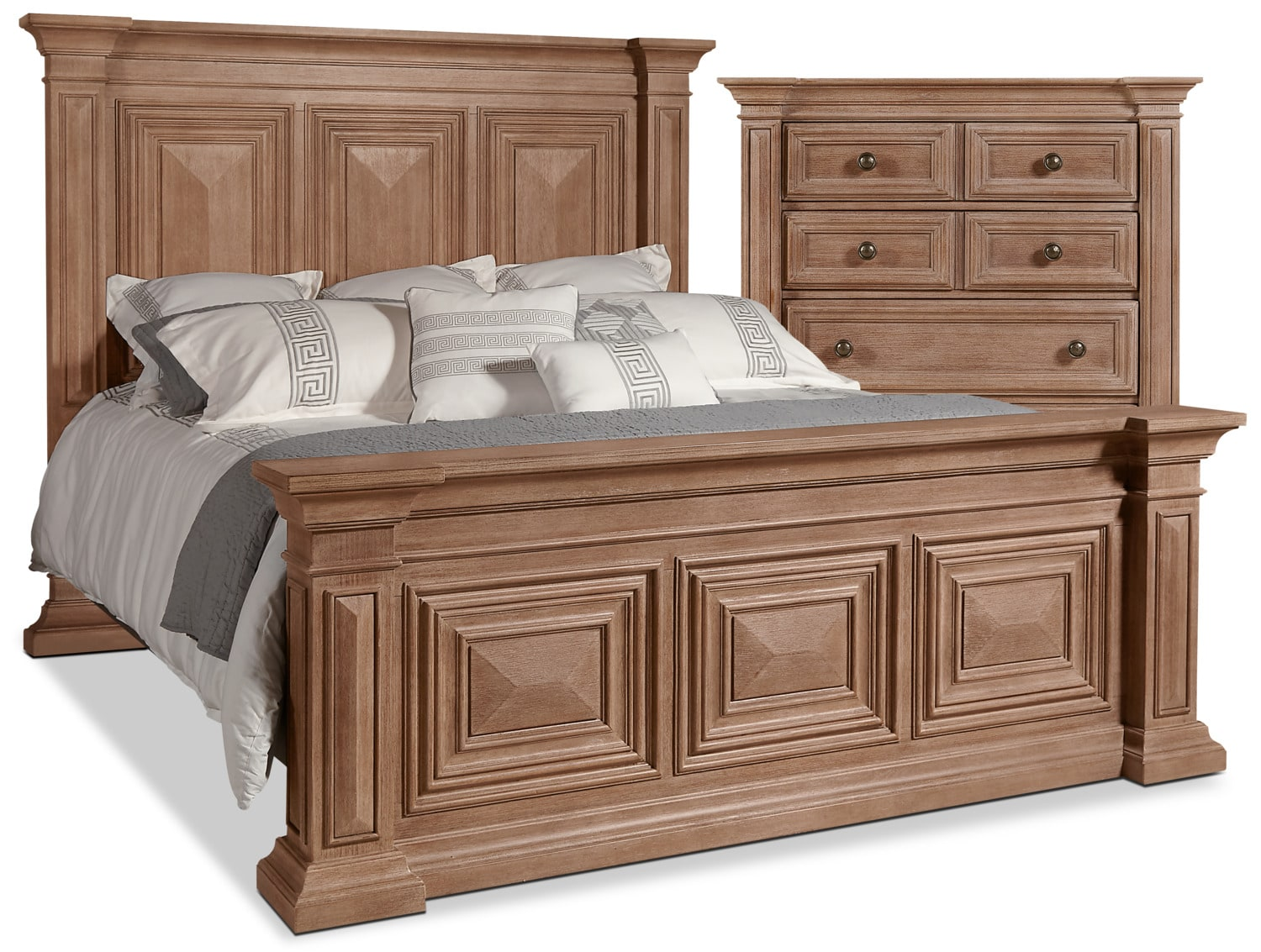 Bedroom Furniture - Sedona 4-Piece Queen Bed and Chest Package