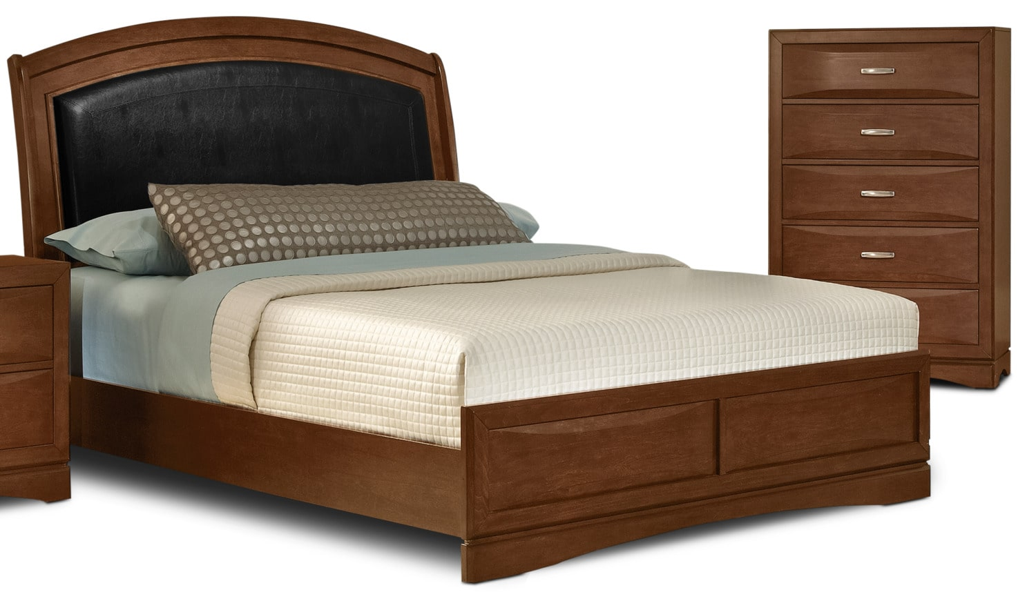 Beverly 4-Piece Queen Bed and Chest Package