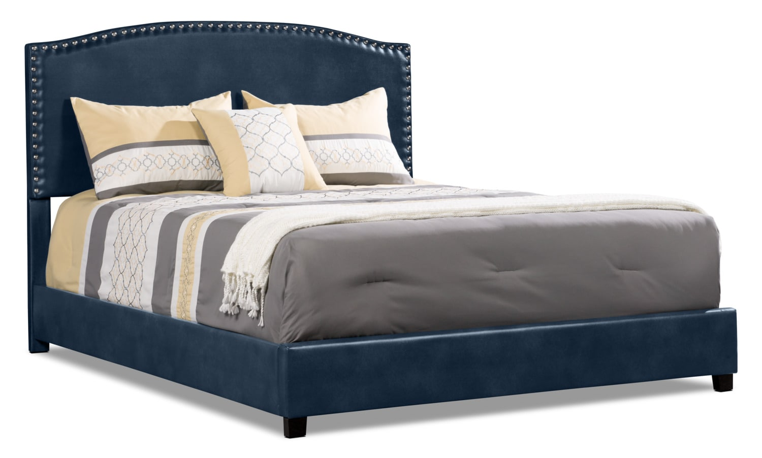 Benjamin Queen Bed - Navy