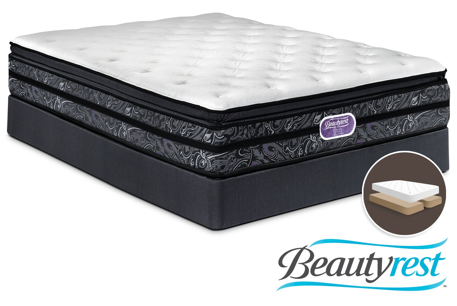 Simmons Beautyrest Ultra Trenton Firm King Mattress and Split Boxspring Set