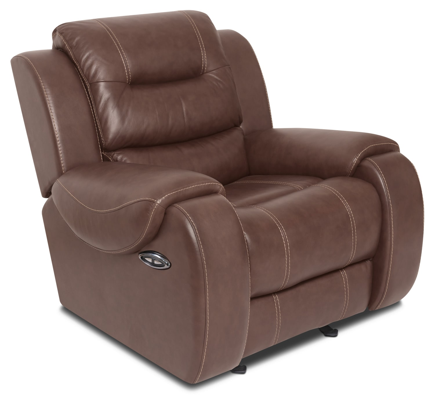 Nick Genuine Leather Power Reclining Chair – Brown