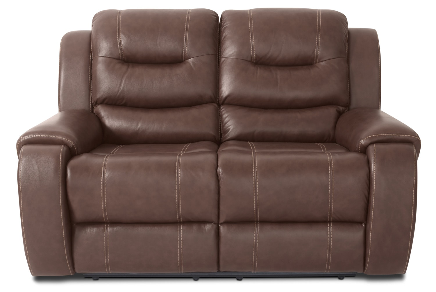 Nick Genuine Leather Reclining Loveseat – Brown