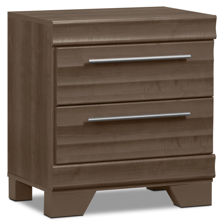 table de nuit olivia grise brick. Black Bedroom Furniture Sets. Home Design Ideas