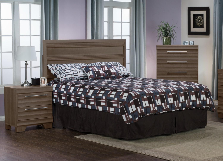 Bedroom Furniture - Olivia 3-Piece Queen Bedroom Package – Grey