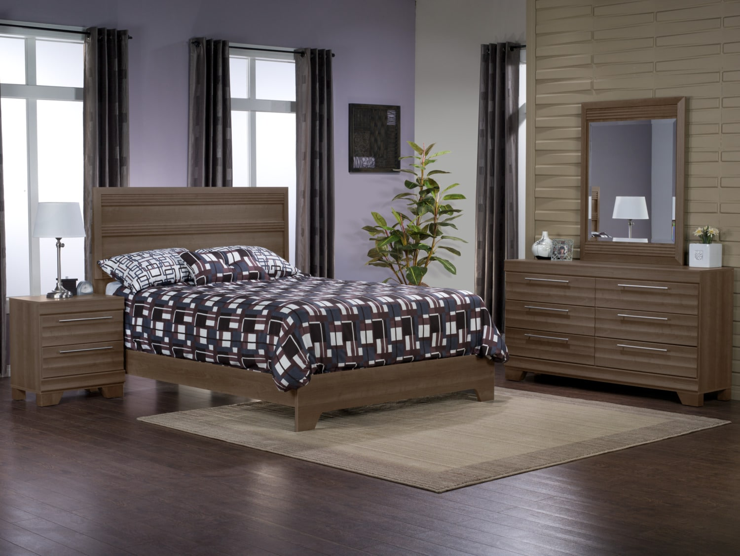 Olivia 6-Piece Queen Bedroom Package – Grey