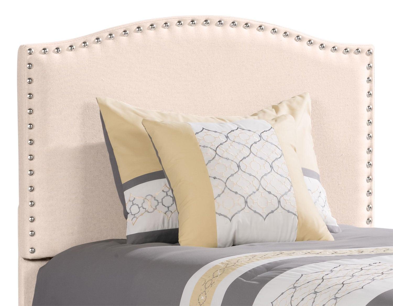 Bedroom Furniture - Benjamin Twin Headboard – Linen Stone