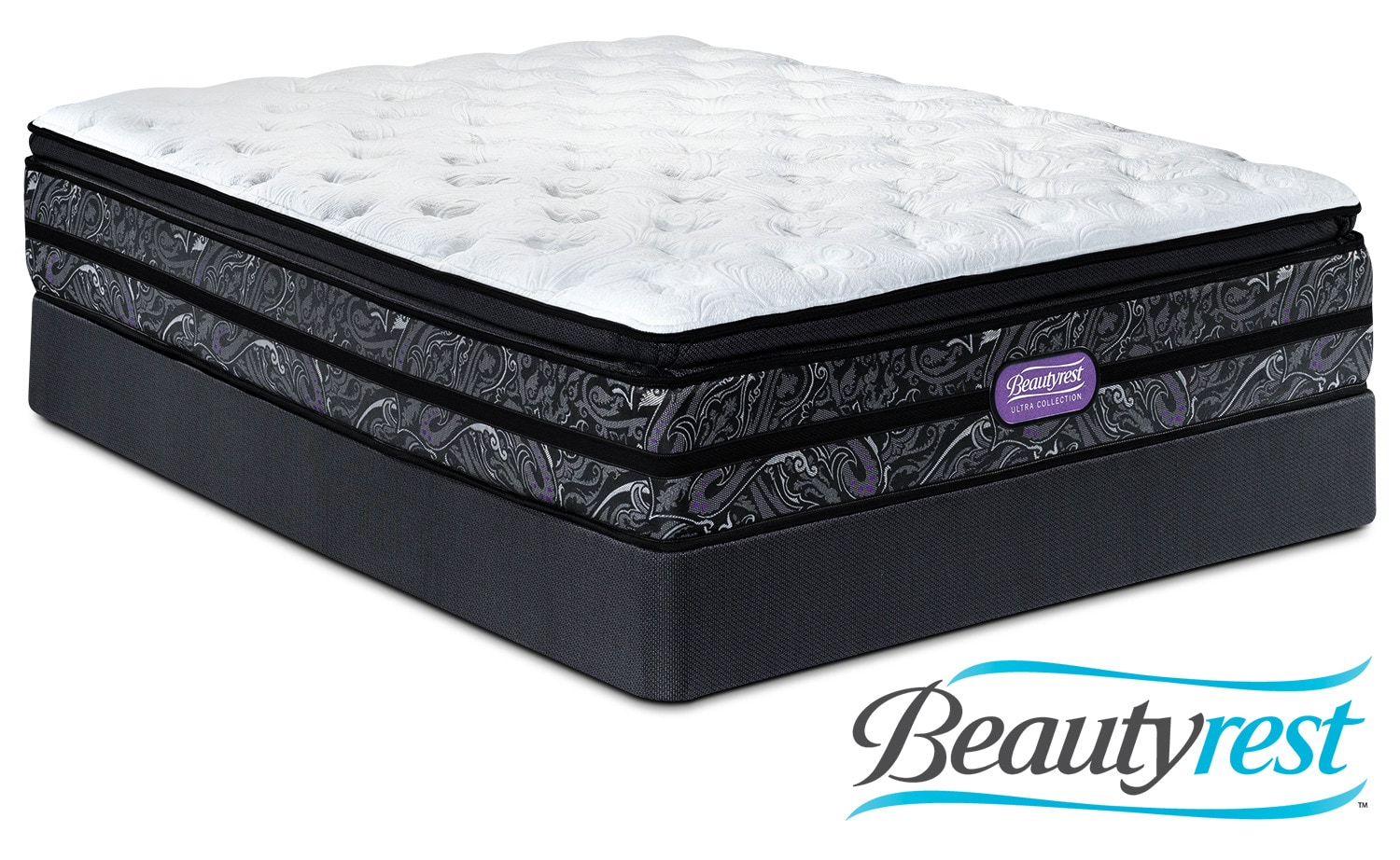 Simmons Beautyrest Ultra Garrett Cushion Firm Twin Mattress and Boxspring Set