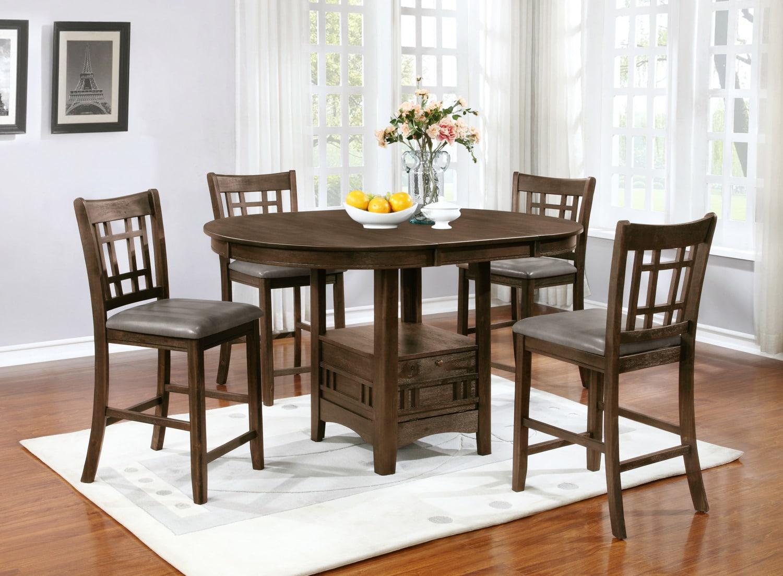 Table de salle manger dana de hauteur comptoir brick for Hauteur table a manger