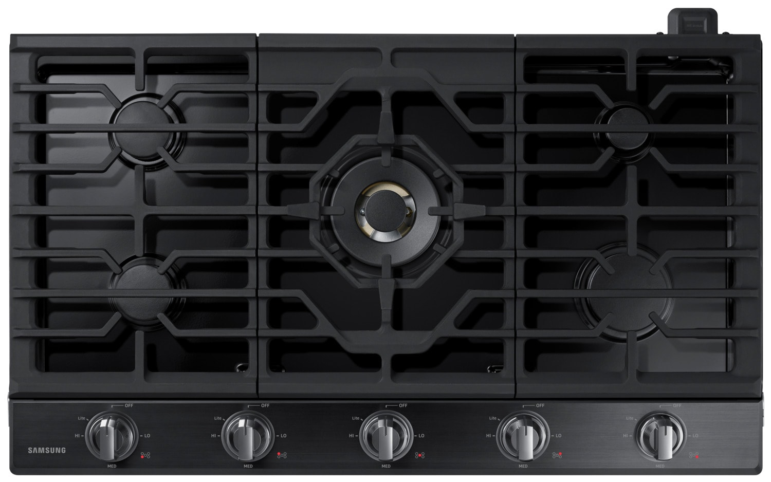 Samsung Black Stainless Steel Gas Cooktop - NA36K7750TG/AA