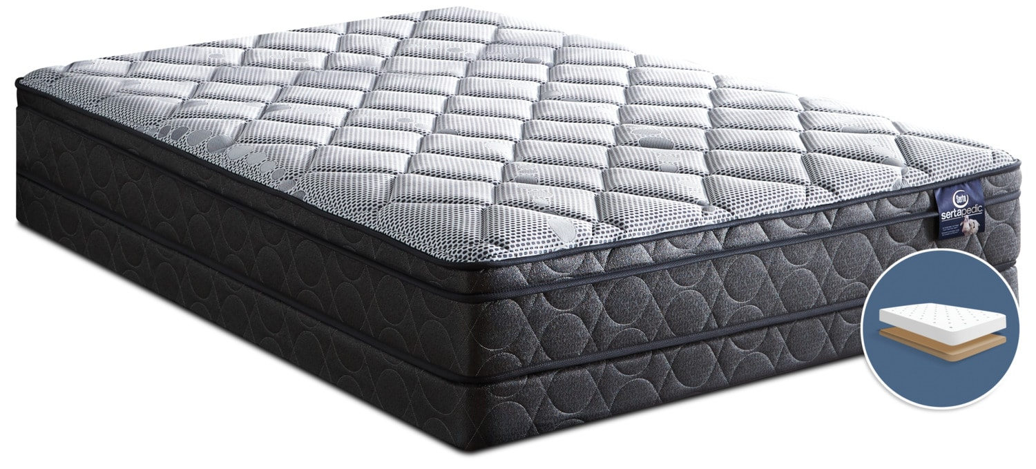 Serta Sertapedic® Flex Luxury Firm Euro-Top Low-Profile Full Mattress Set