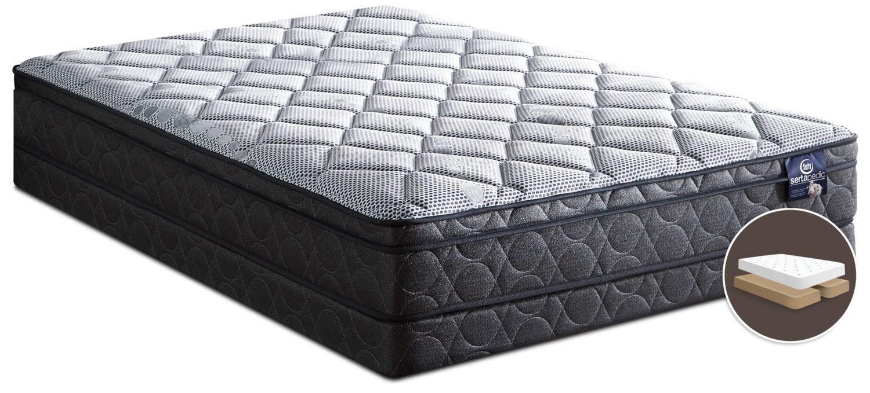 Serta Sertapedic® Flex Luxury Firm Euro-Top Queen Split Mattress Set