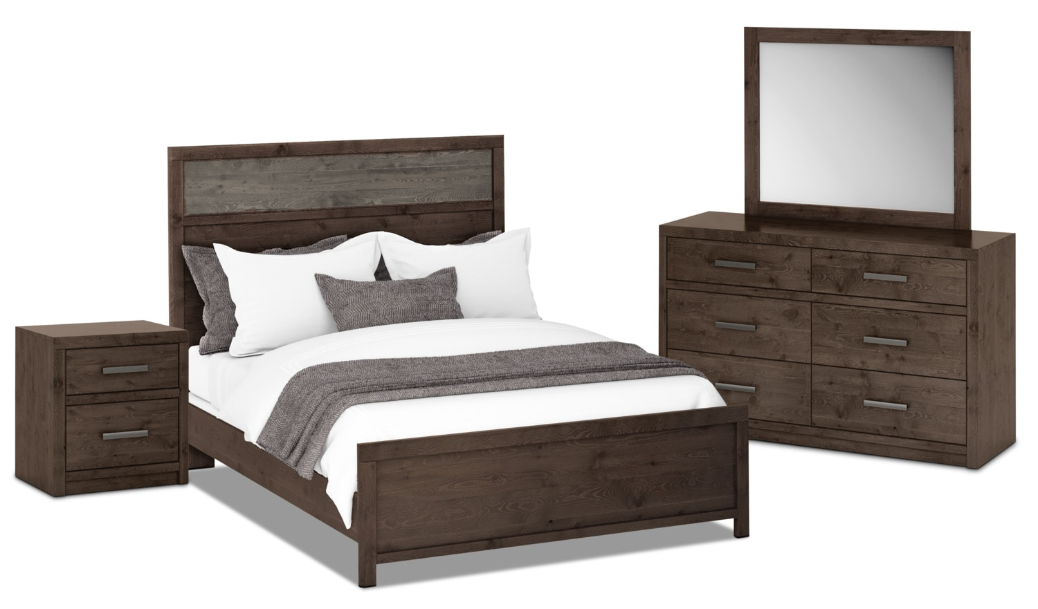 Bedroom Furniture - Onyx 6-Piece Queen Bedroom Package