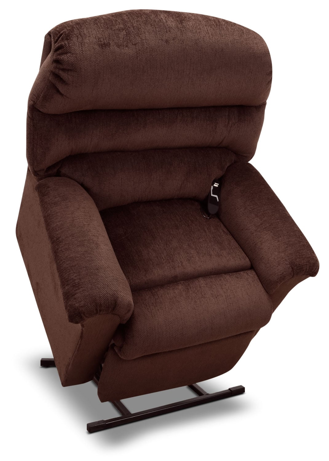 477 Chenille 3-Position Power Lift Chair – Walnut