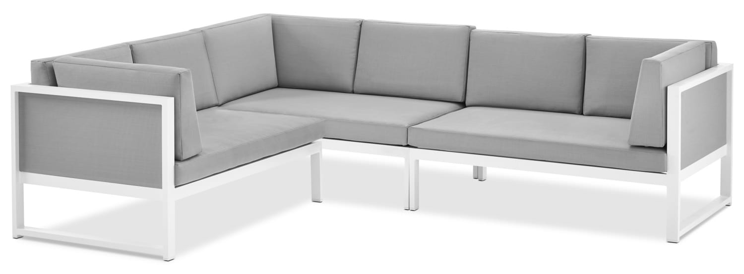 Biscayne 3-Piece Outdoor Sectional - Light Grey