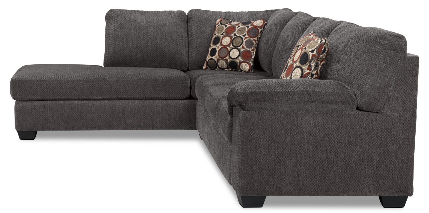 Morty 2 Piece Chenille Left Facing Sofa Bed Sectional