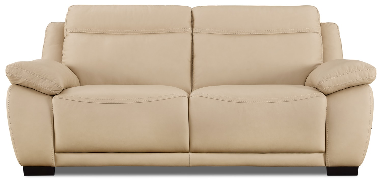 Natuzzi Editions B875 Genuine Leather Sofa – Taupe