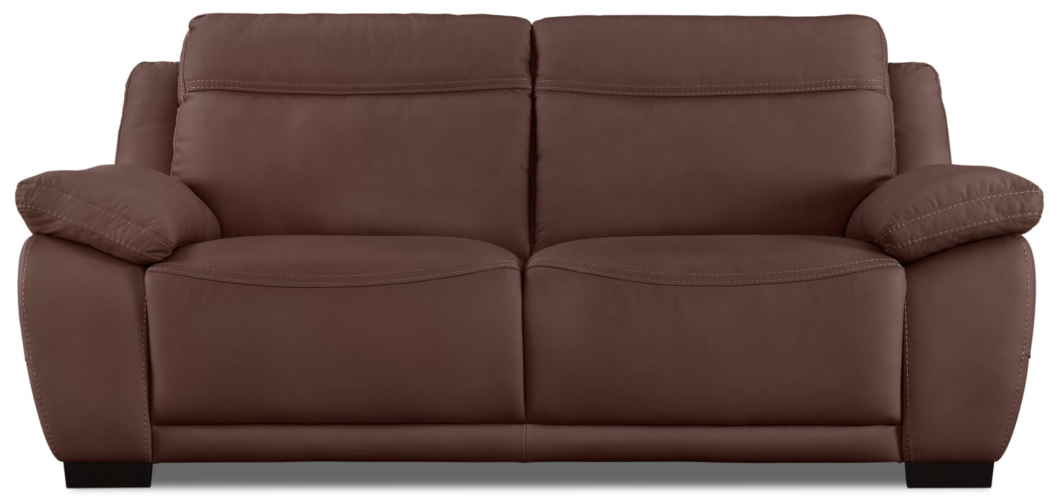 Natuzzi Editions B875 Genuine Leather Sofa – Chestnut