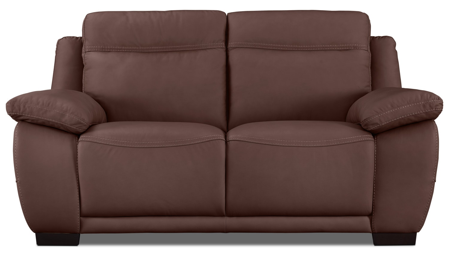 Living Room Furniture - Natuzzi Editions B875 Genuine Leather Loveseat – Chestnut