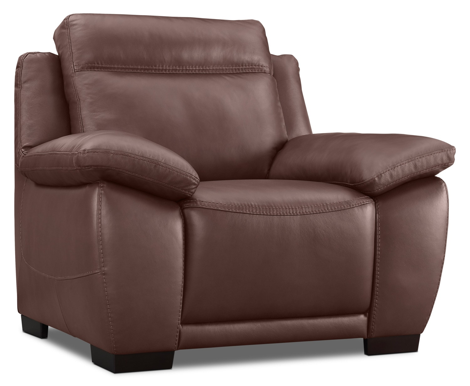 Natuzzi Editions B875 Genuine Leather Chair – Chestnut