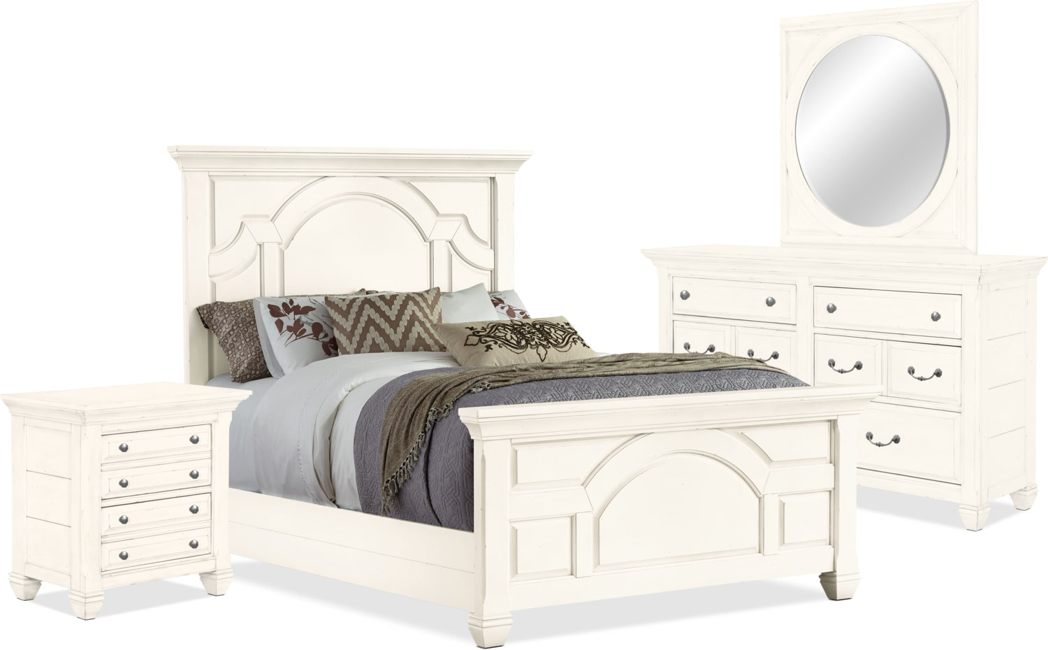 Bedroom Furniture - Hancock Park 6-Piece Queen Bedroom Package