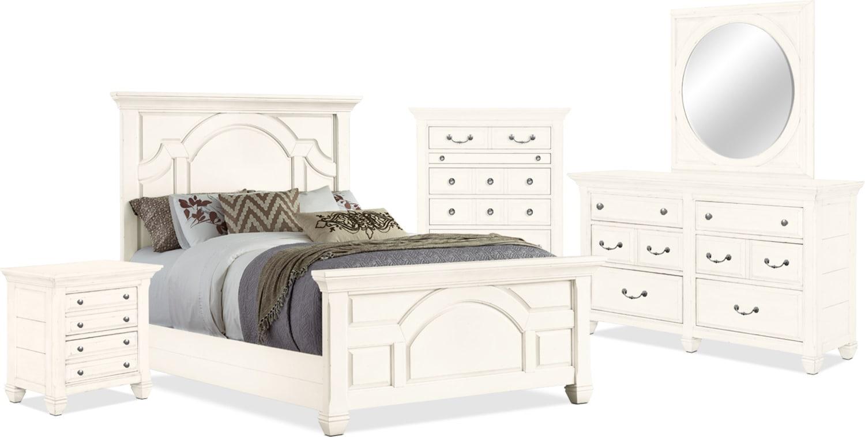 Bedroom Furniture - Hancock Park 7-Piece Queen Bedroom Package