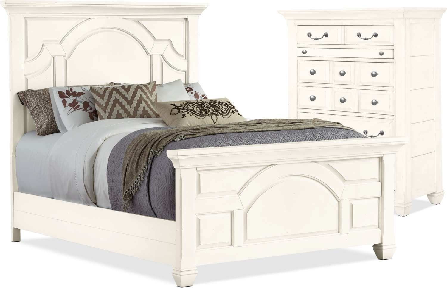 Hancock Park 4-Piece Queen Bed and Chest Package