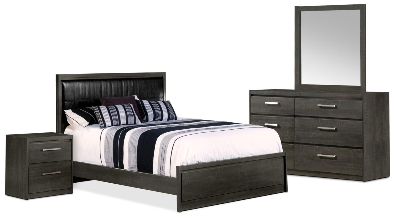Bedroom Furniture - Tyler 6-Piece Queen Bedroom Package