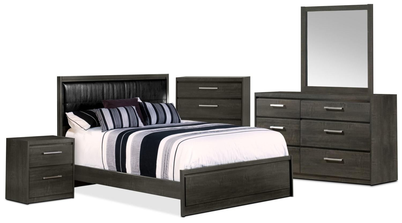 Bedroom Furniture - Tyler 7-Piece Queen Bedroom Package