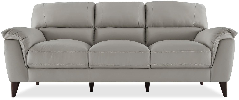 Chloe Genuine Leather Sofa – Seashell