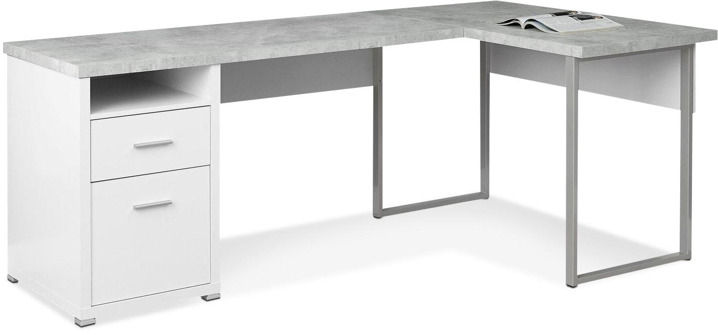 Graham Corner Desk - White