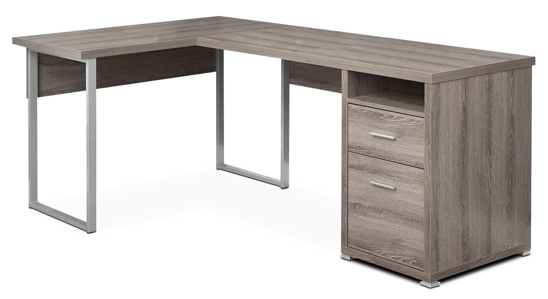 Graham Corner Desk - Dark Taupe