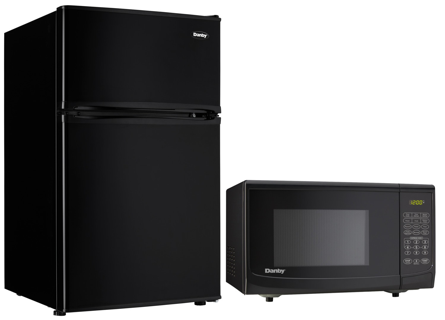 Danby Black Compact Fridge and Microwave Package
