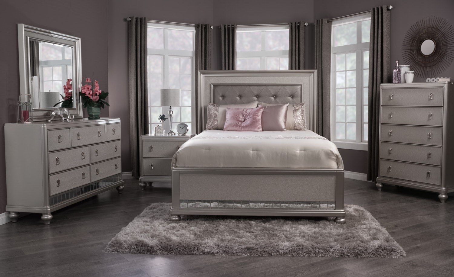 Diva 6 Piece King Bedroom Package The Brick
