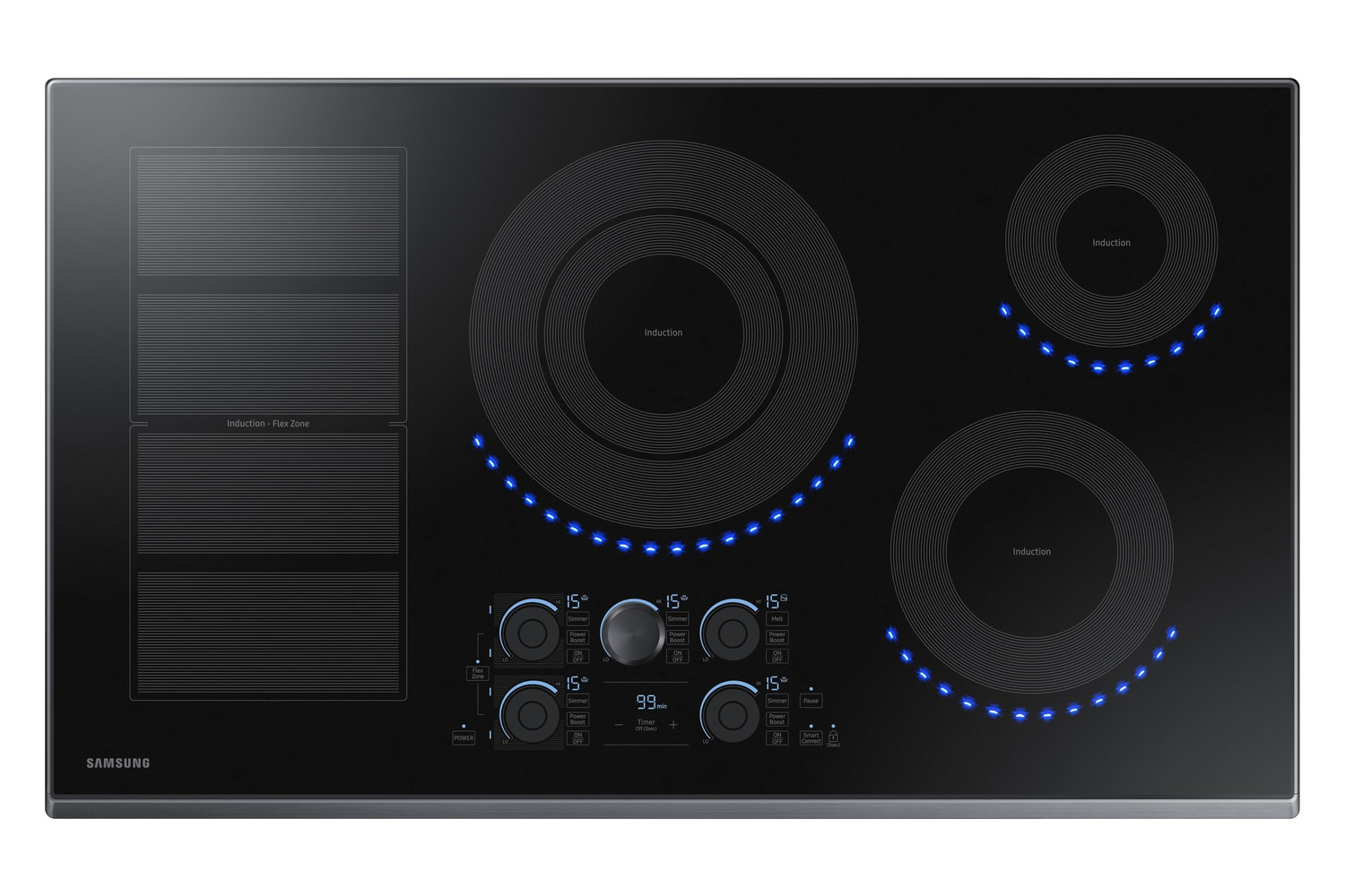 Samsung Black Stainless Steel Induction Cooktop - NZ36K7880UG/AA